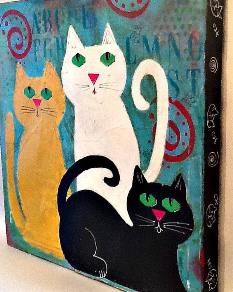 """NASHVILLE CATS"" original fine art by Cindy Zoglmann"