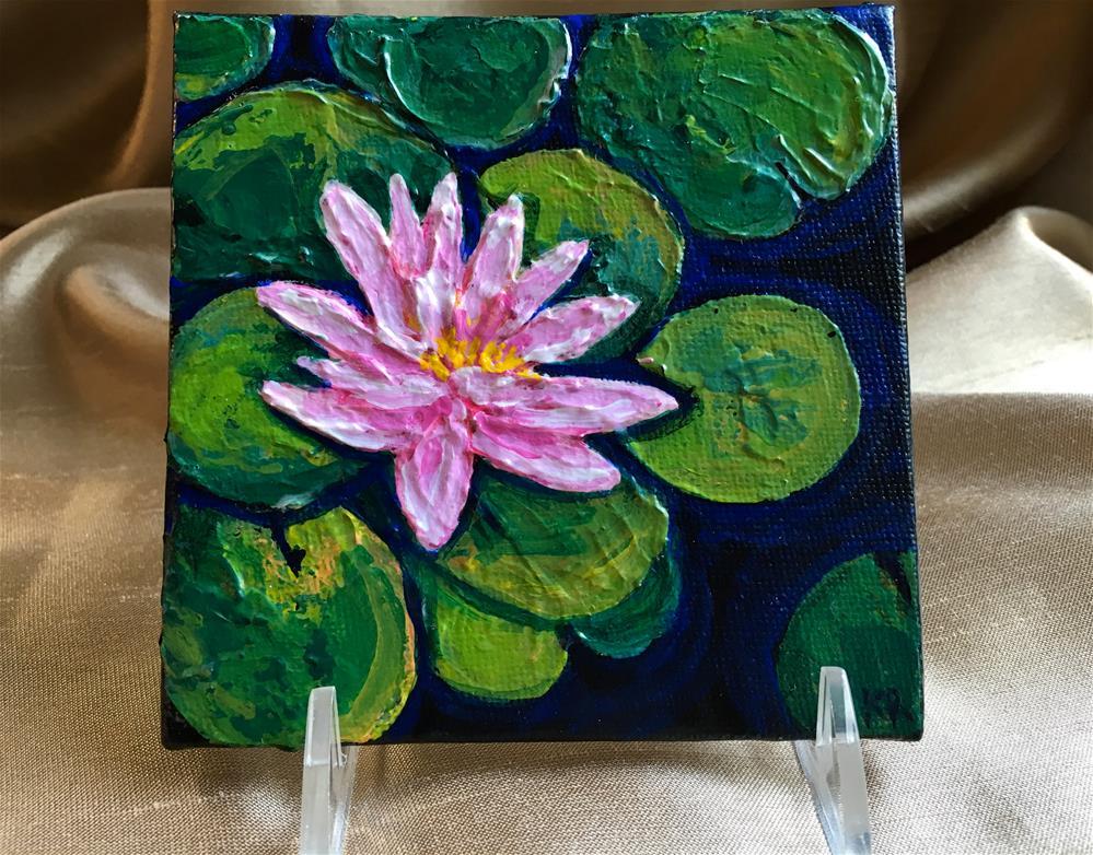 """""""Lilys Pad"""" original fine art by Karen Roncari"""