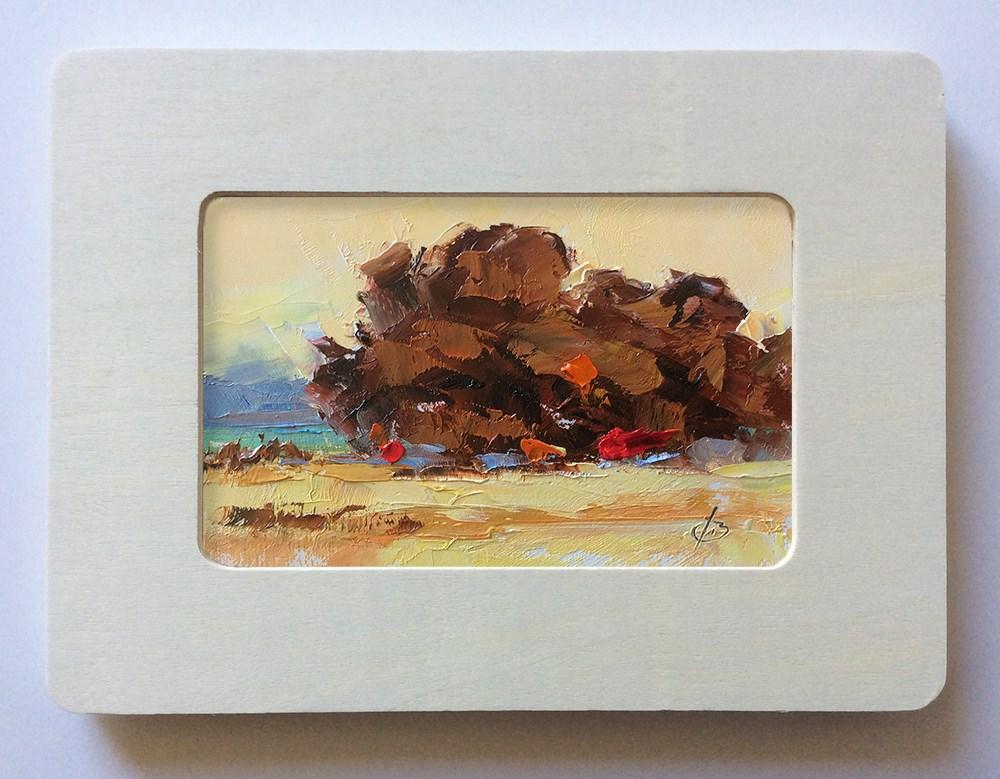 """GOLDEN SKY"" original fine art by Tom Brown"