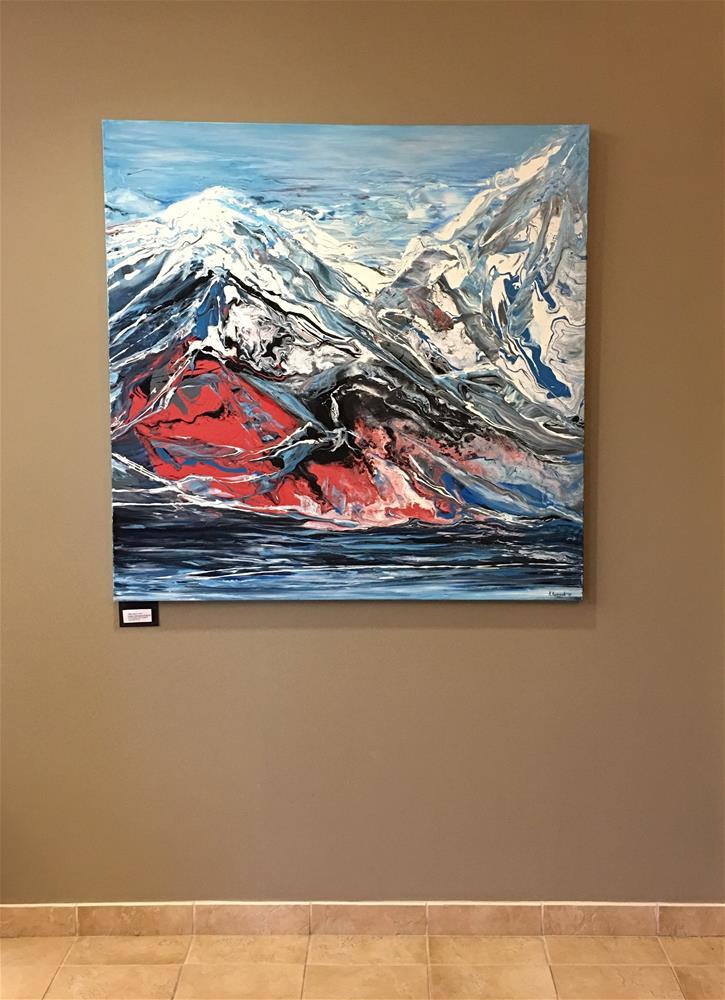 """Mountain Lake"" original fine art by Khrystyna Kozyuk"