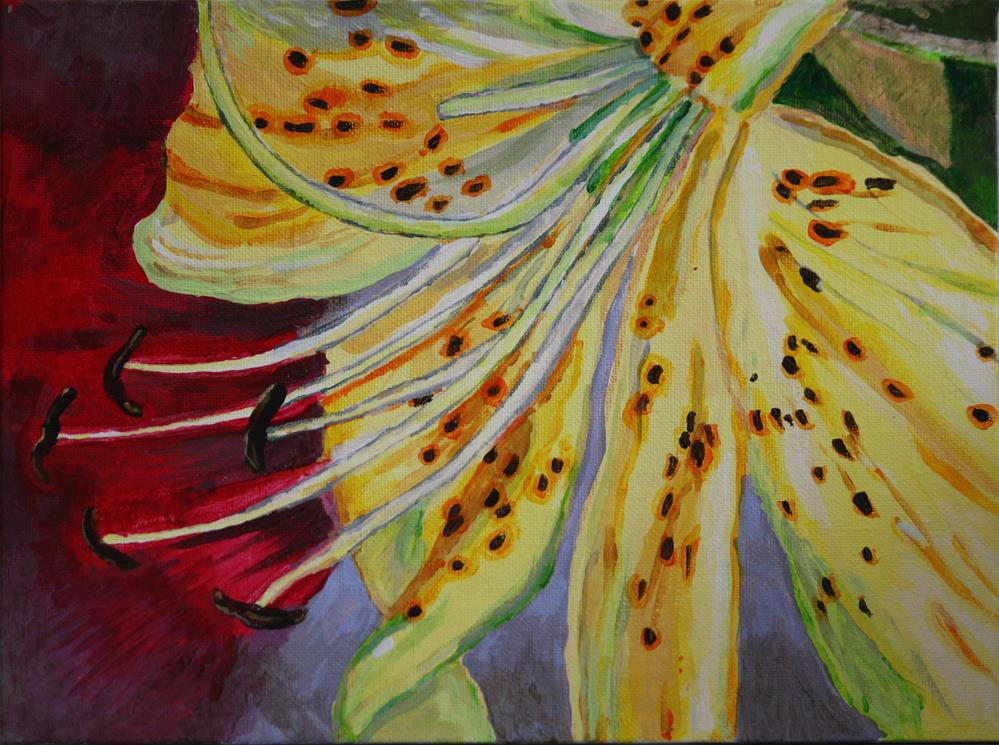 """Speckled Lily"" original fine art by Terri-Anne Barge"