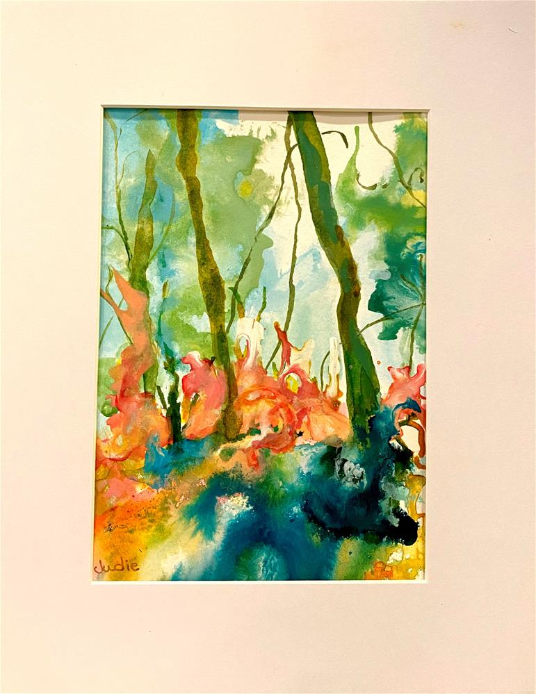 """FOREST LIGHT"" original fine art by Judie Mulkey"
