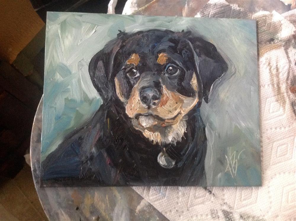 """Rottweiler"" original fine art by Annette Balesteri"