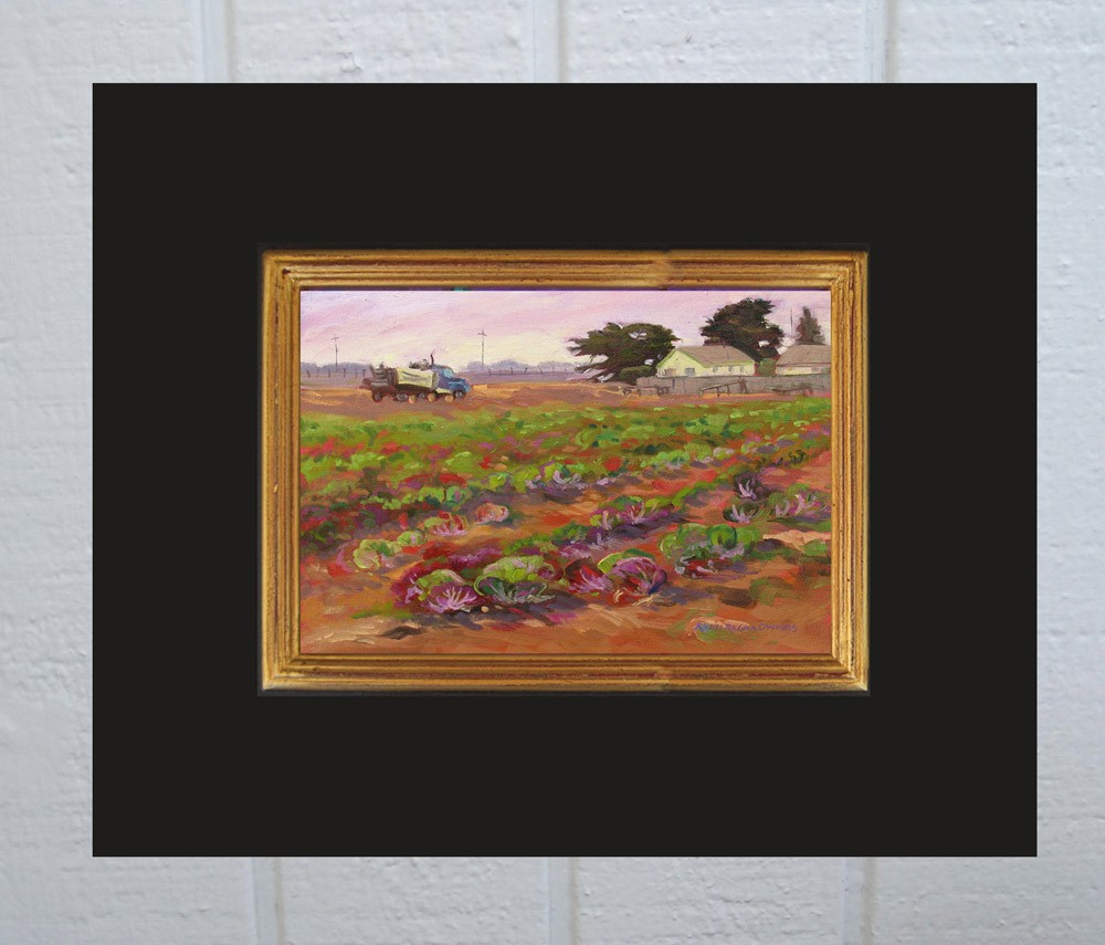 """Radicchio Field Just Harvested"" original fine art by Rhett Regina Owings"