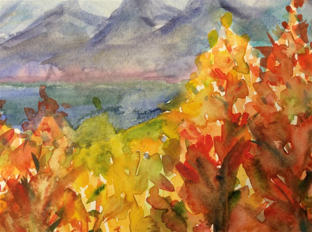"""Fall Sparklers"" original fine art by Molly Rohrscheib Hathaway"