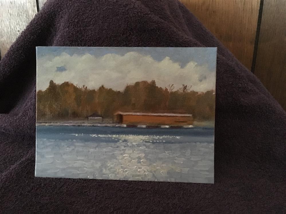 """Langley Covered Bridge"" original fine art by Paul Zarza"