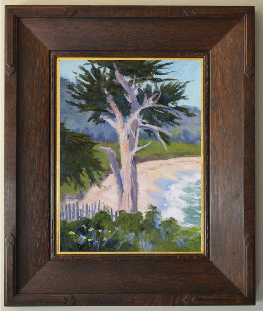 """Old Cypress at Monastery Beach"" original fine art by Rhett Regina Owings"