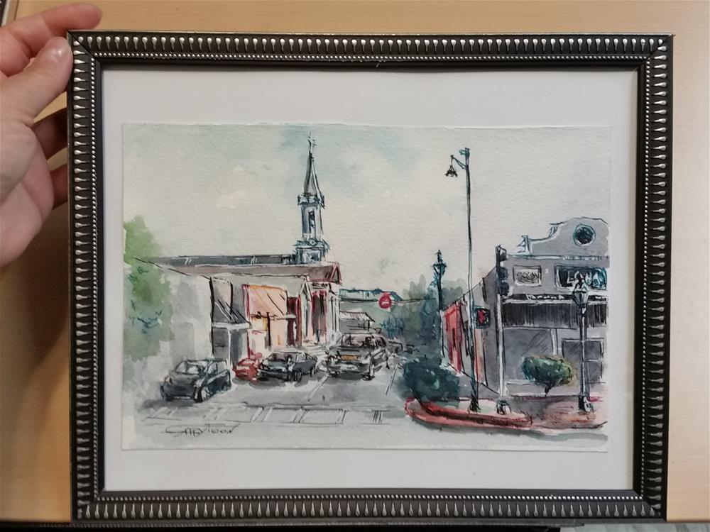 """Lawenceville City Sketch"" original fine art by Gabriella DeLamater"