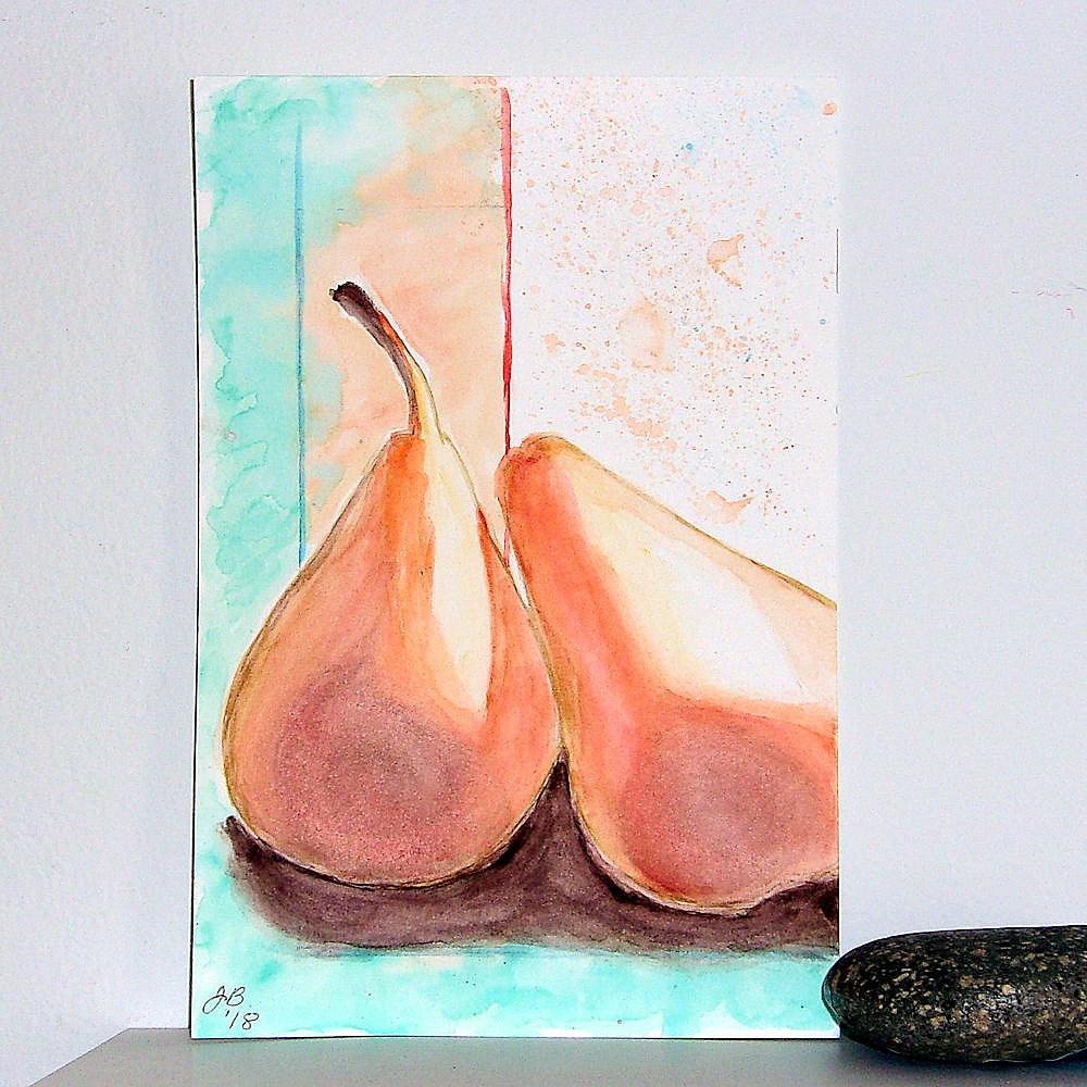 """A Pair of Pears"" original fine art by Jan Burch"