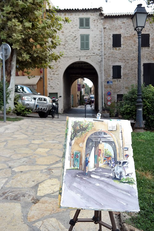 """2579 Valbonne"" original fine art by Dietmar Stiller"