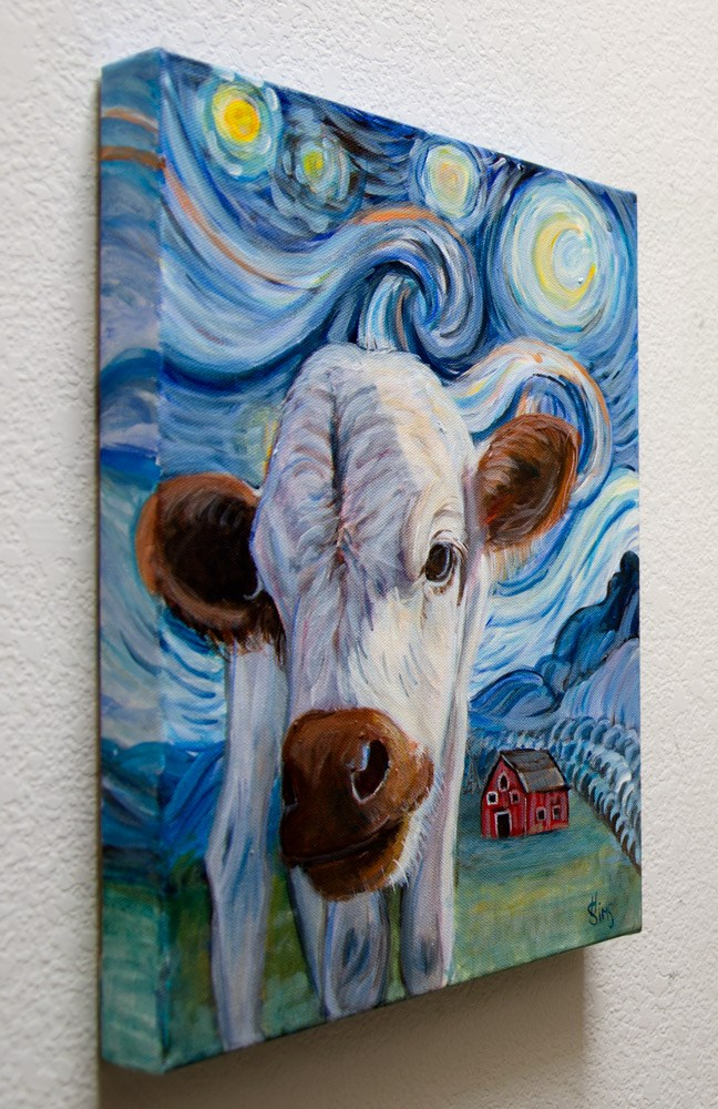 """""""Chanel's Starry Night"""" original fine art by Heather Sims"""