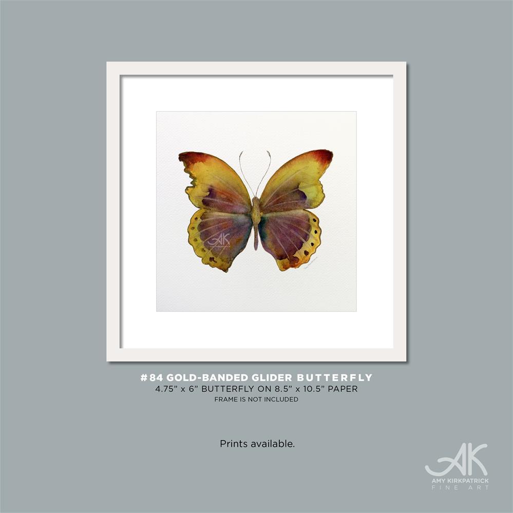 """#84 Gold-Banded Glider Butterfly #0394"" original fine art by Amy Kirkpatrick"