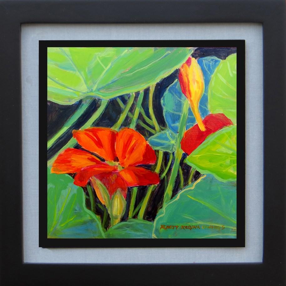 """Nasturtium"" original fine art by Rhett Regina Owings"