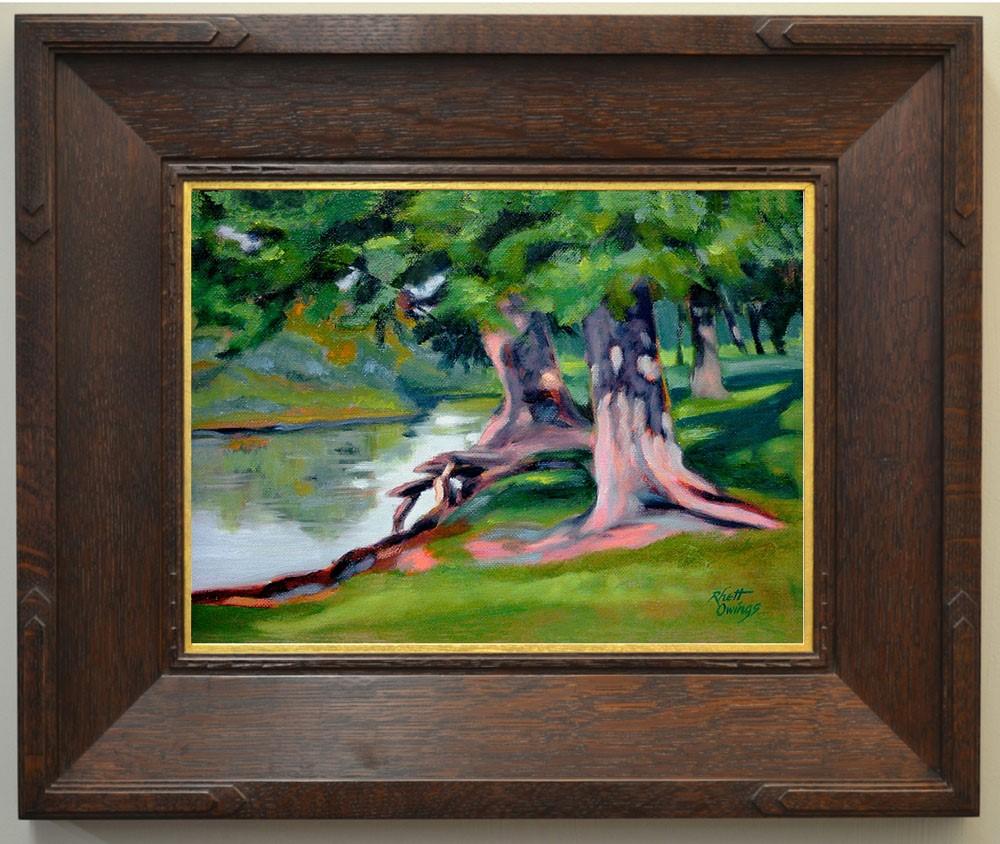 """""""Legion Park Trees"""" original fine art by Rhett Regina Owings"""