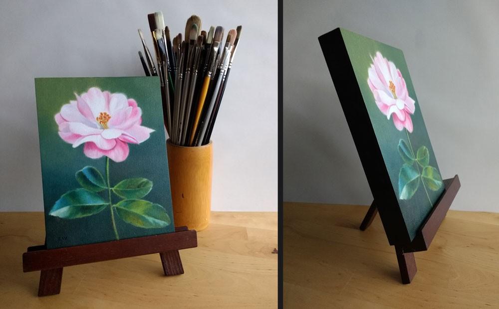 """Pink and Wild"" original fine art by Ester Wilson"
