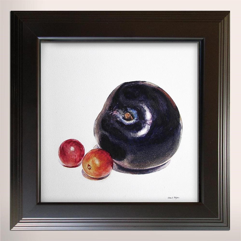 """""""Plum with Grapes"""" original fine art by Kara K. Bigda"""
