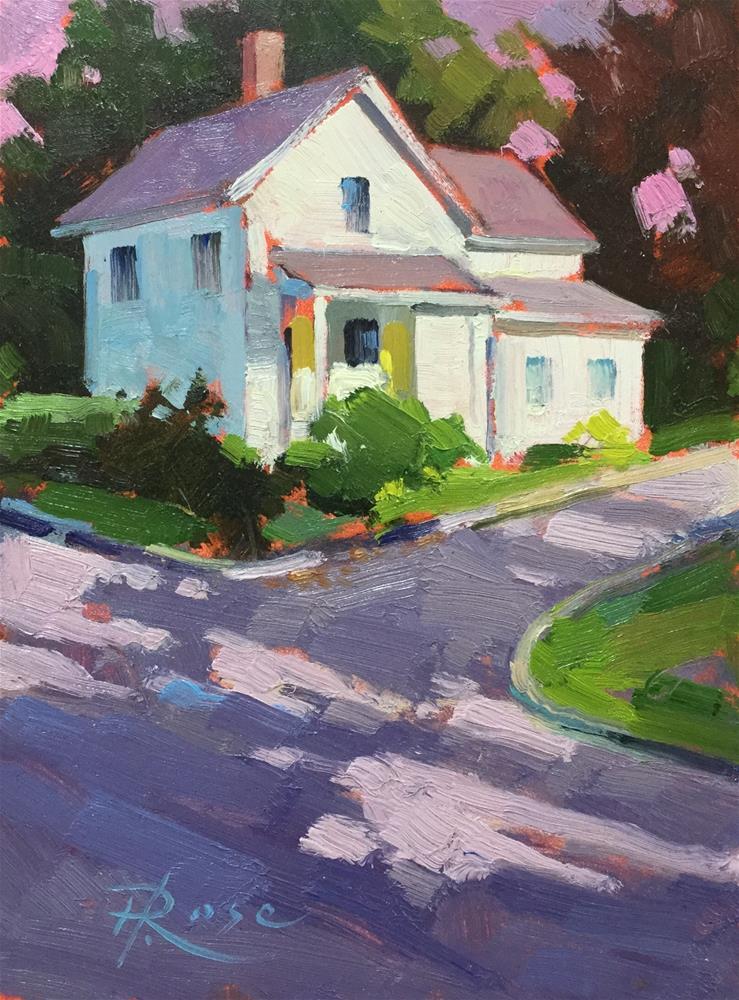 """Ridge field summer home"" original fine art by Howard Rose"