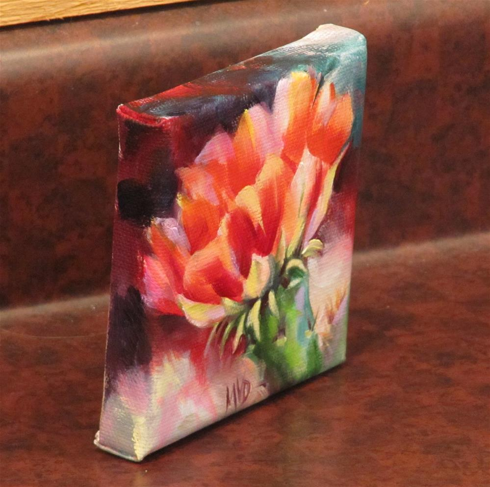 """Red Cactus Flower"" original fine art by Mary Van Deman"