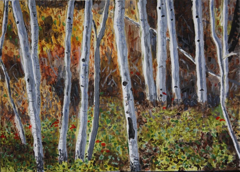 """""""Aspen Walk"""" original fine art by Terri-Anne Barge"""