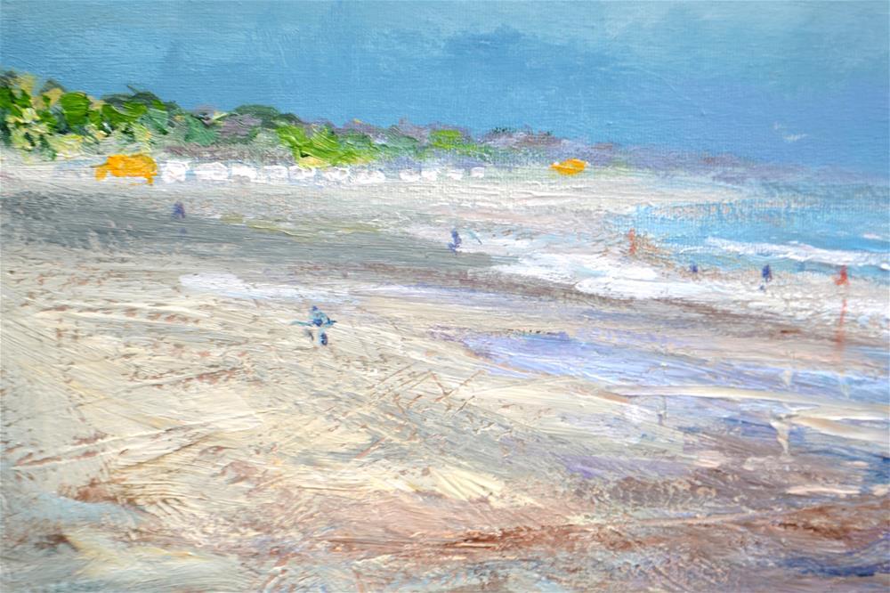 """""""2 July Beachscape Vrouwenpolder"""" original fine art by Wim Van De Wege"""