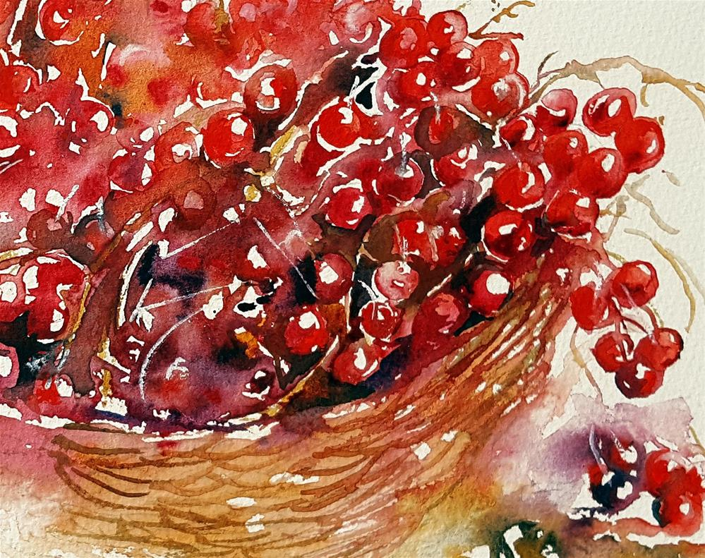 """Luscious Red Berries"" original fine art by Arti Chauhan"