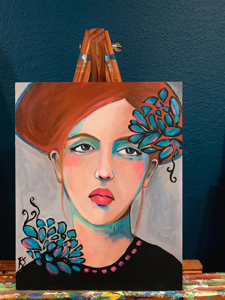 """""""She Blooms Even in Winter"""" original fine art by Roberta Schmidt ArtcyLucy"""