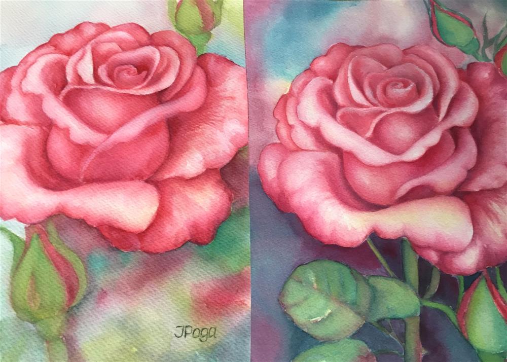 """Sunday rose"" original fine art by Inese Poga"