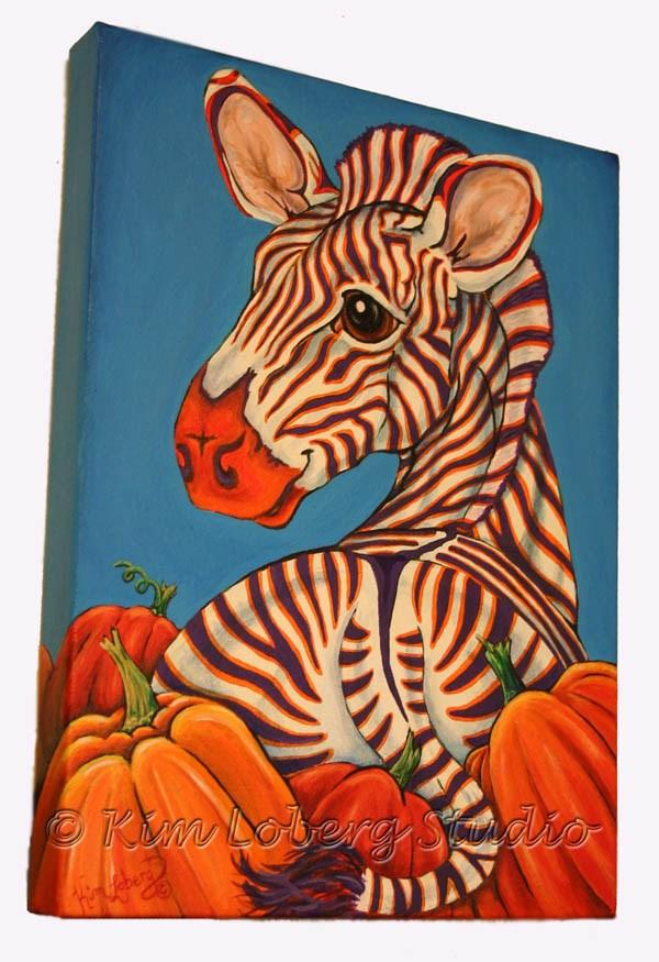 """Picking Out Pumpkins"" original fine art by Kim Loberg"