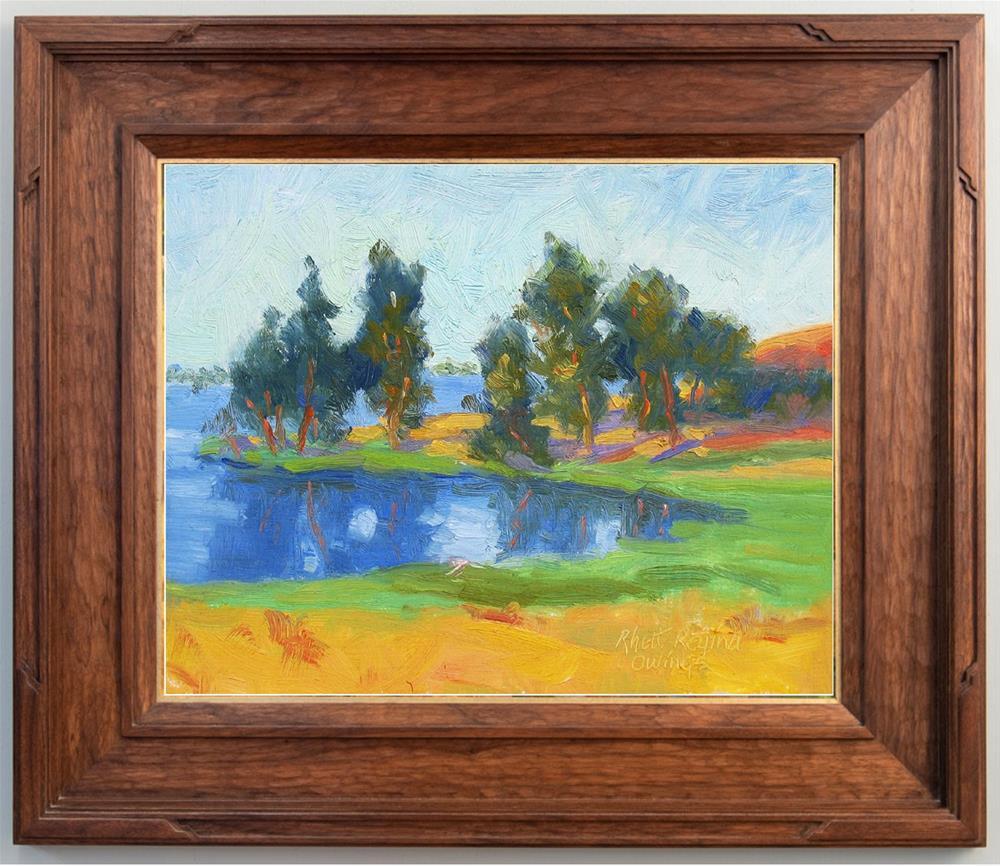 """Lakeside Trees"" original fine art by Rhett Regina Owings"