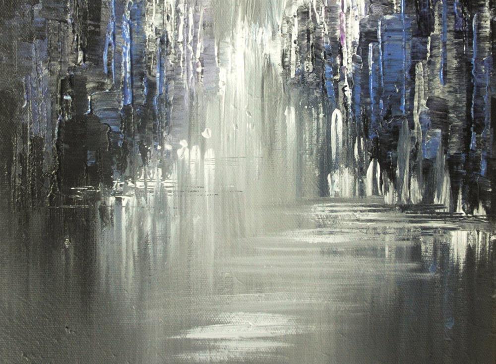 """Twilight Shadows"" original fine art by Tatiana Iliina"