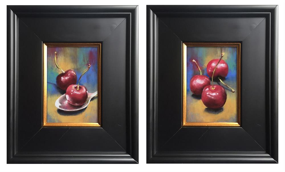"""Cherries II"" original fine art by Pamela Hamilton"