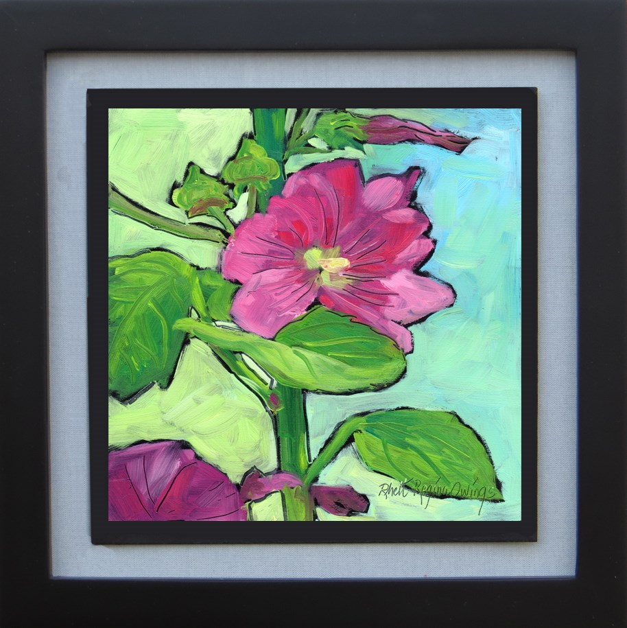 """Hollyhock"" original fine art by Rhett Regina Owings"