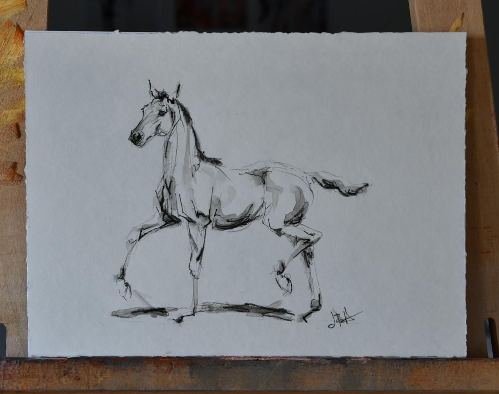 """""""Foal Sketch #13"""" original fine art by Jennifer Pratt"""