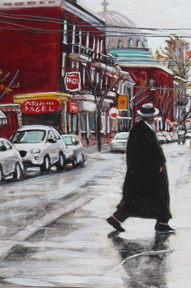 """1173 St Viateur Rainy Day"" original fine art by Darlene Young"