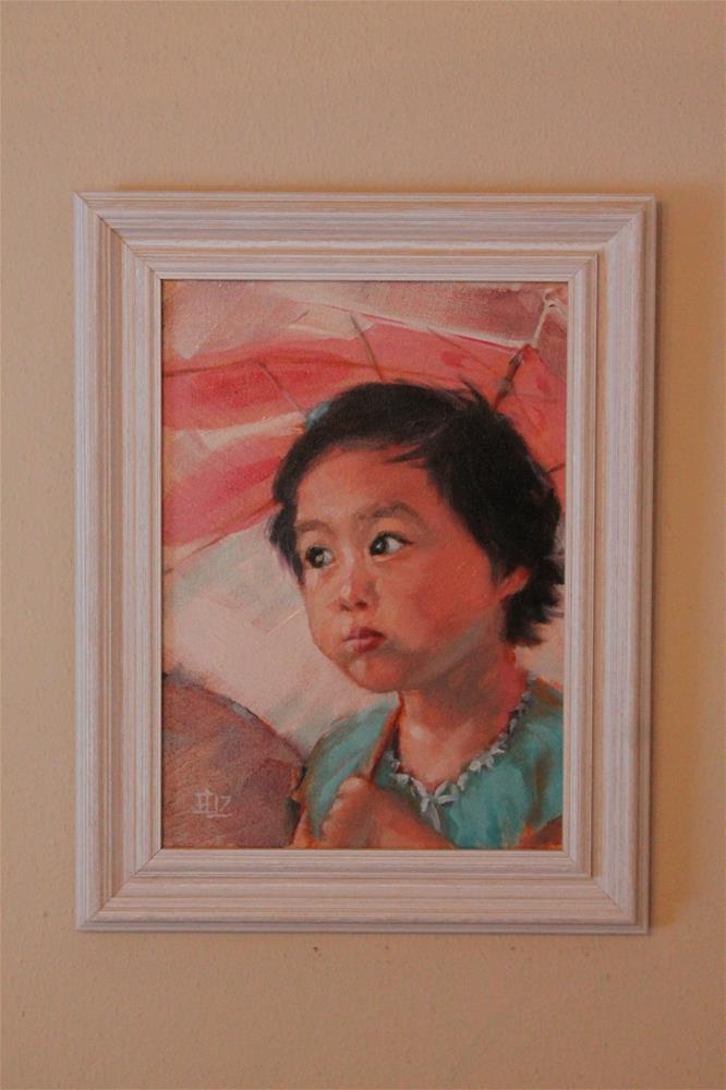 """With an Umbrella"" original fine art by Emilia Leinonen"