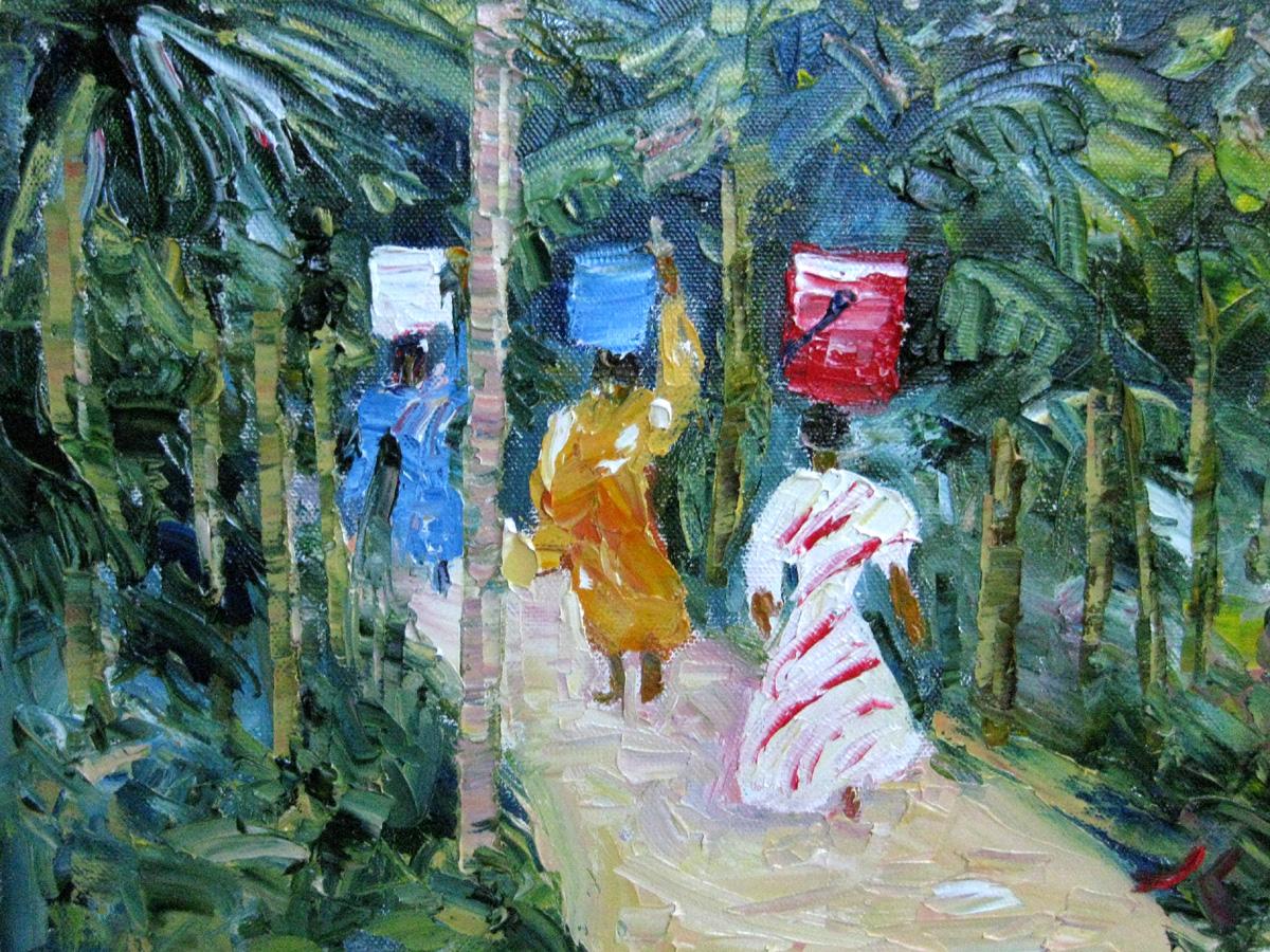 """""""Water"""" original fine art by Julia Lu"""