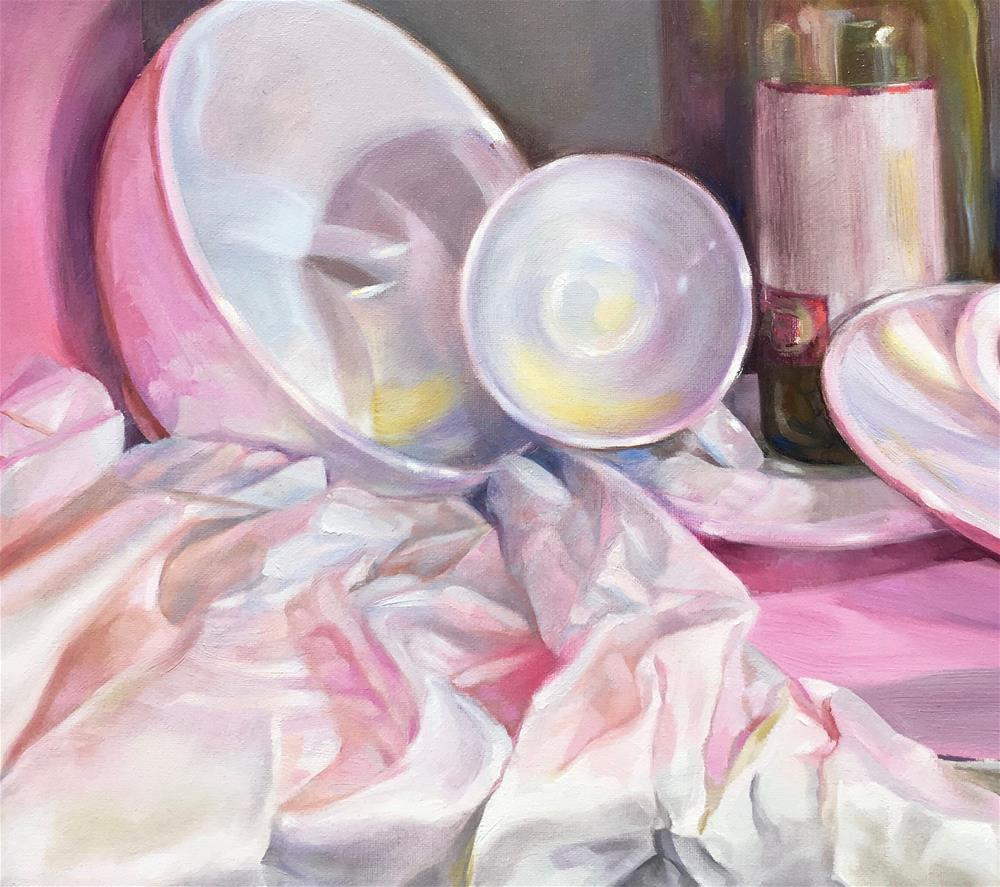"""""""Drenched in Pink"""" original fine art by Shineh Kim Yoon"""