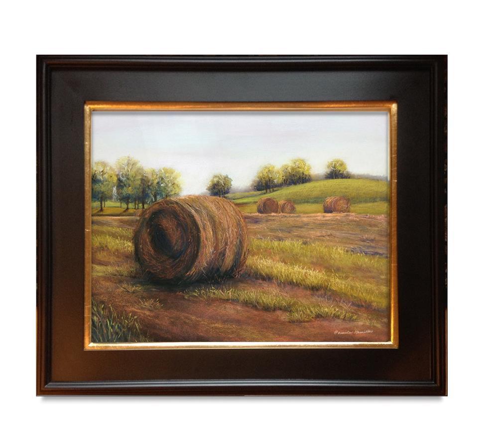 """Haytime"" original fine art by Pamela Hamilton"