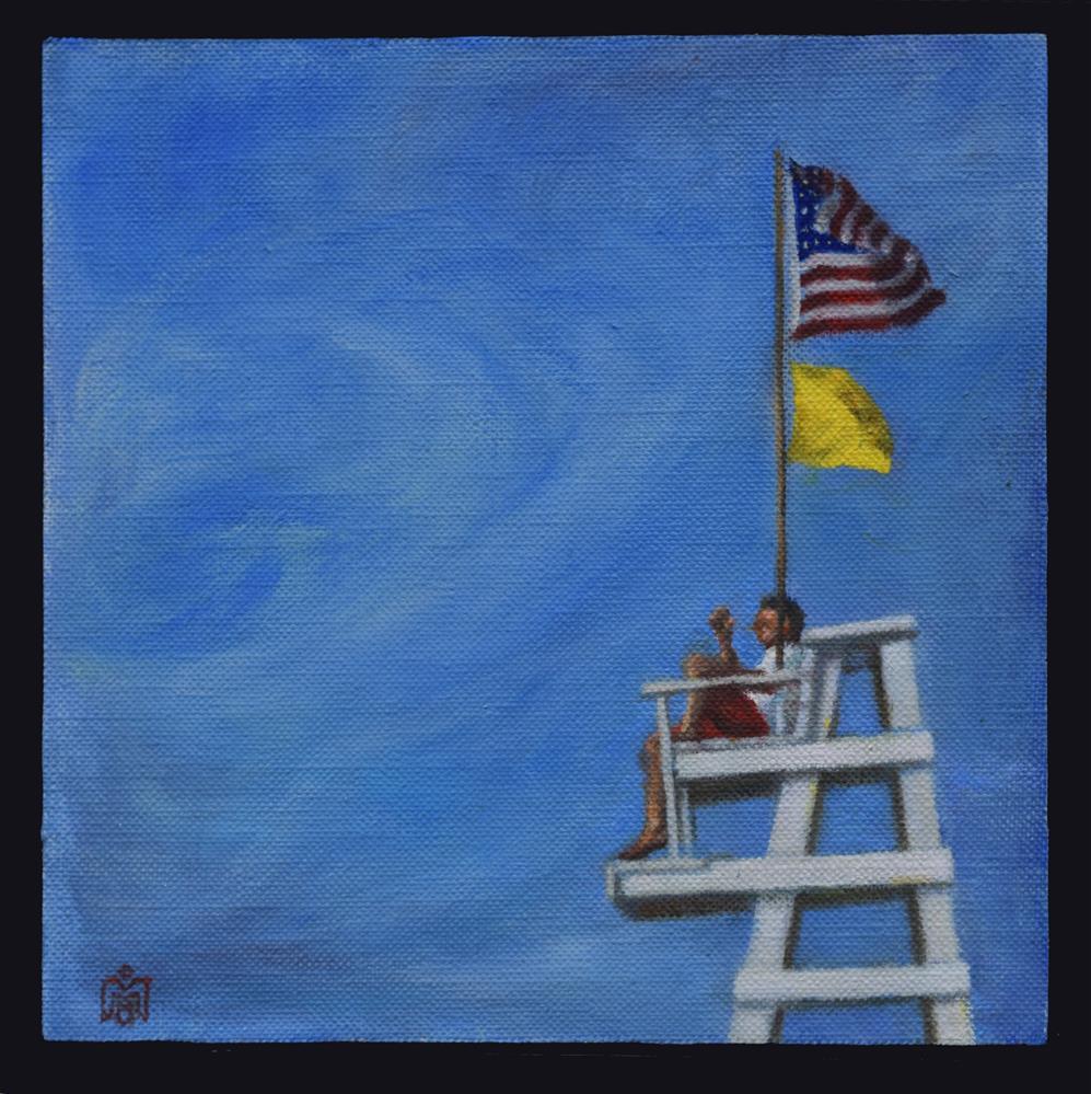 """Yellow Flag Study"" original fine art by Melissa  Imossi"