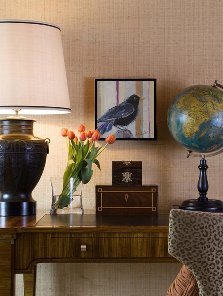 """""""Tuesday's Blackbird"""" original fine art by Karen Weber"""