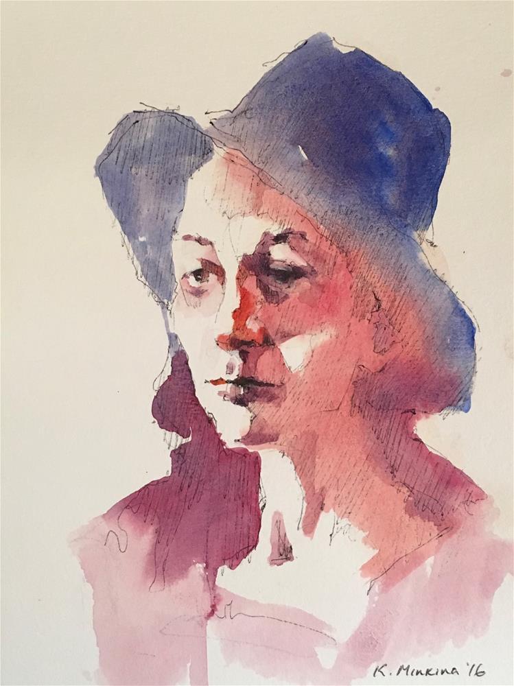 """Sketch24"" original fine art by Katya Minkina"
