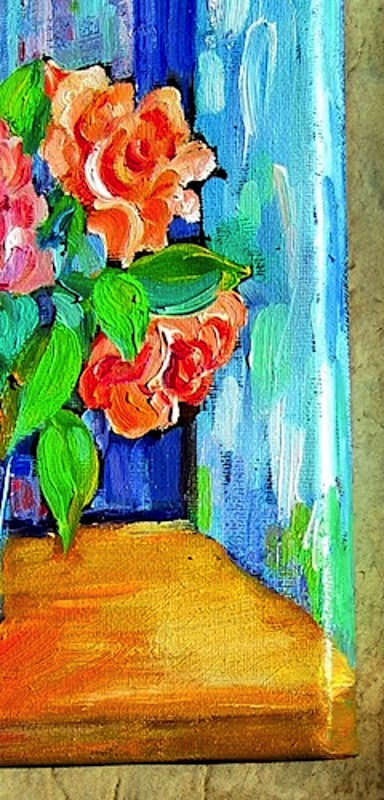 """Painted Roses"" original fine art by Patricia Musgrave"