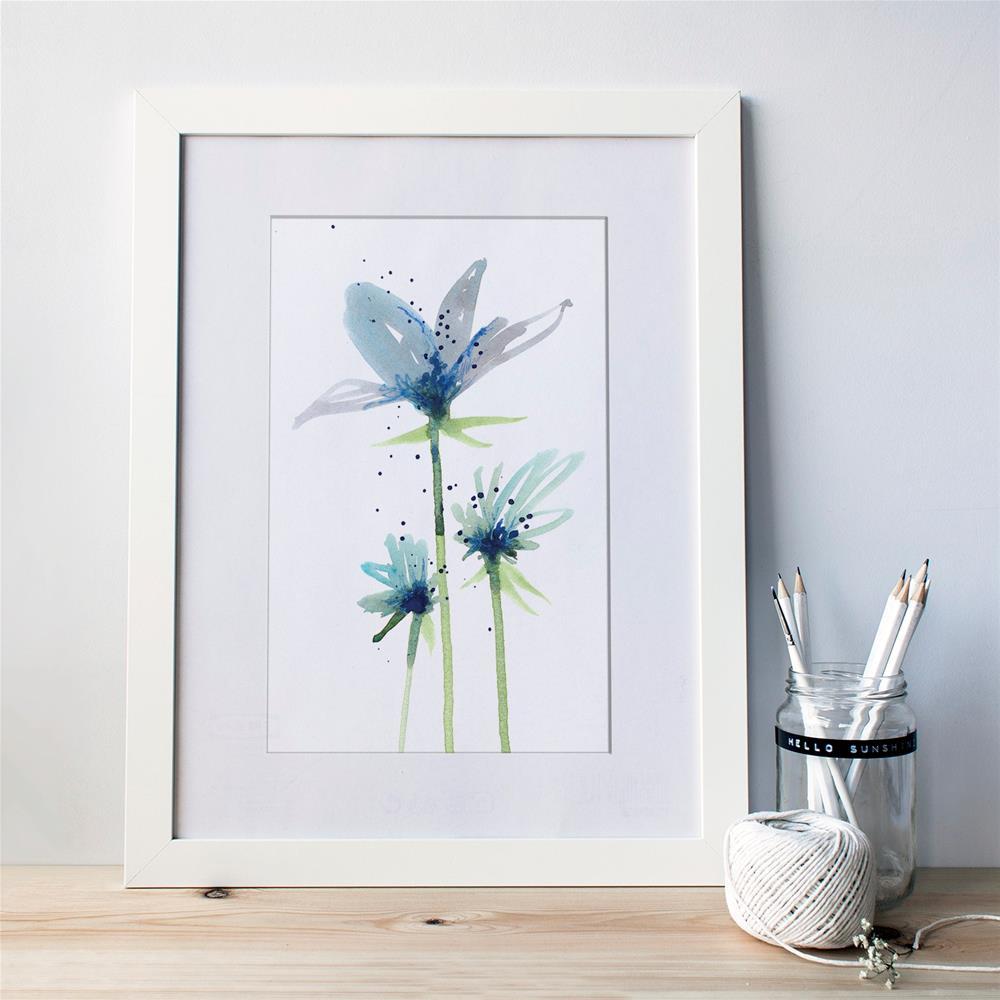 """Blue Sisters"" original fine art by Tonya Doughty"
