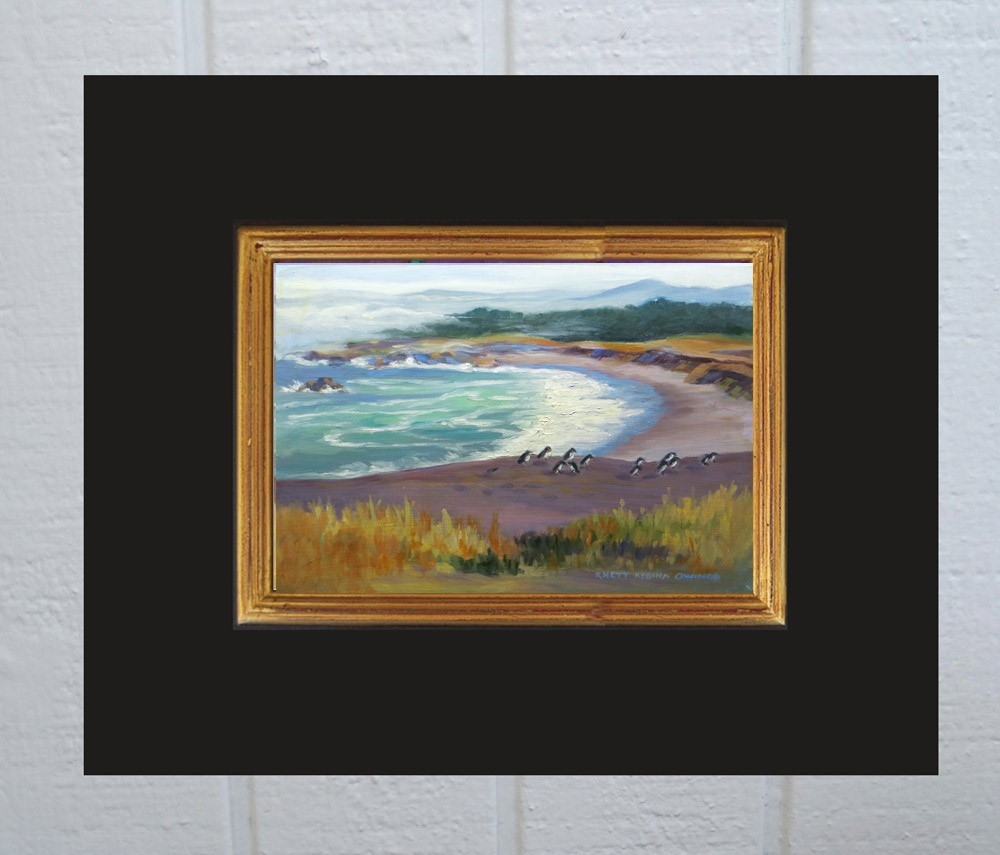 """Coastal Beach"" original fine art by Rhett Regina Owings"