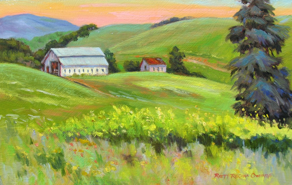"""Farm Spring"" original fine art by Rhett Regina Owings"