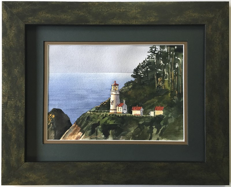 """""""Heceta Head View"""" original fine art by Andy Sewell"""
