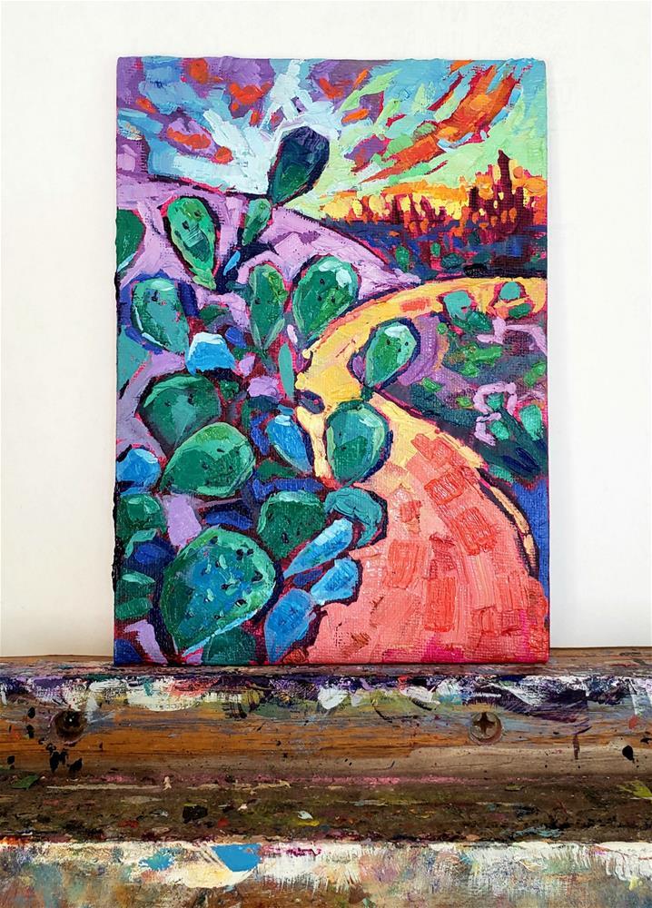 """Tickling the Sky -  Oil Painting "" original fine art by Bhavna Misra"