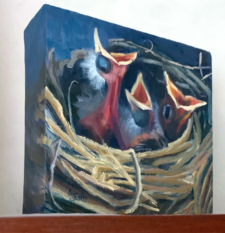 """Momma, Momma, Momma!"" original fine art by Andrea Jeris"