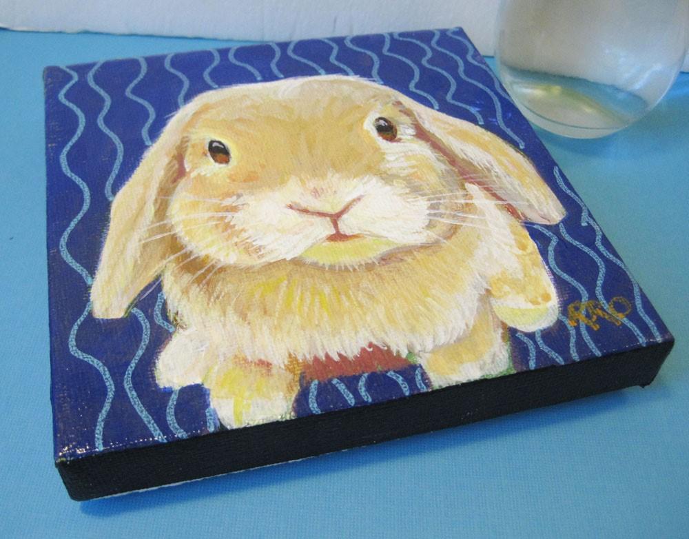 """Bunny"" original fine art by Rhett Regina Owings"