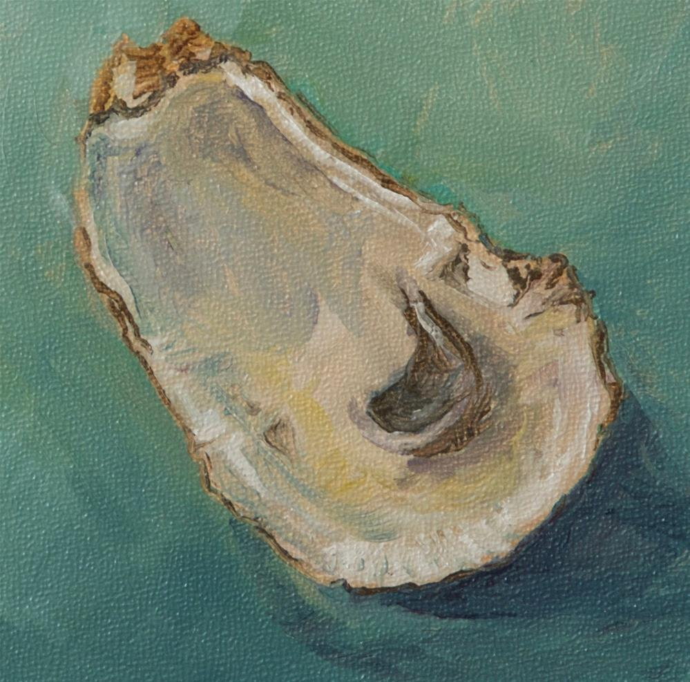 """Oyster Blues"" original fine art by Jan Jackson"